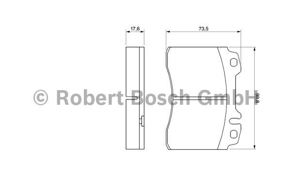 Kit de plaquettes de frein, frein à disque - BOSCH - 0 986 460 966