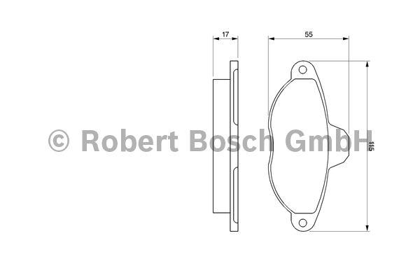 Kit de plaquettes de frein, frein à disque - BOSCH - 0 986 460 968