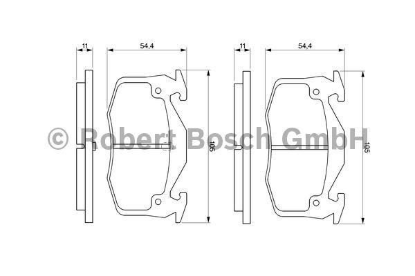 Kit de plaquettes de frein, frein à disque - BOSCH - 0 986 460 970