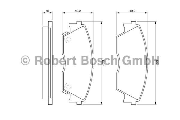 Kit de plaquettes de frein, frein à disque - BOSCH - 0 986 460 972