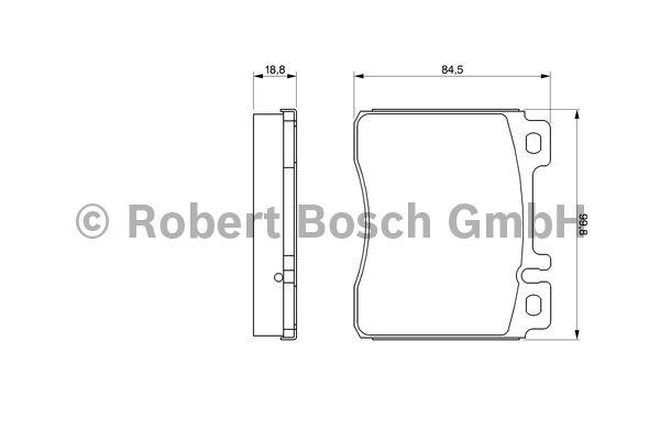 Kit de plaquettes de frein, frein à disque - BOSCH - 0 986 460 976