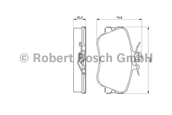 Kit de plaquettes de frein, frein à disque - BOSCH - 0 986 460 977