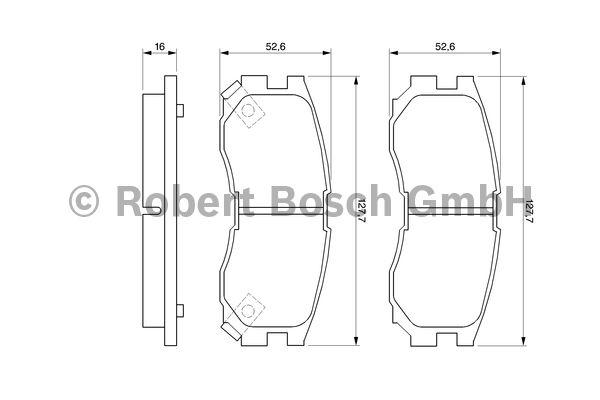 Kit de plaquettes de frein, frein à disque - BOSCH - 0 986 460 979