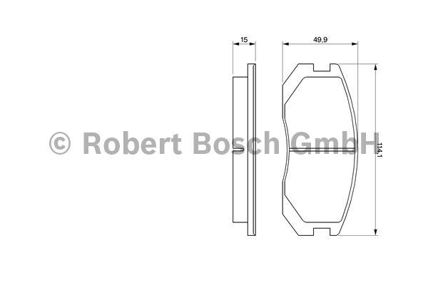 Kit de plaquettes de frein, frein à disque - BOSCH - 0 986 460 980