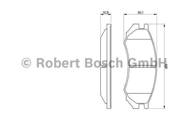 Kit de plaquettes de frein, frein à disque - BOSCH - 0 986 460 981