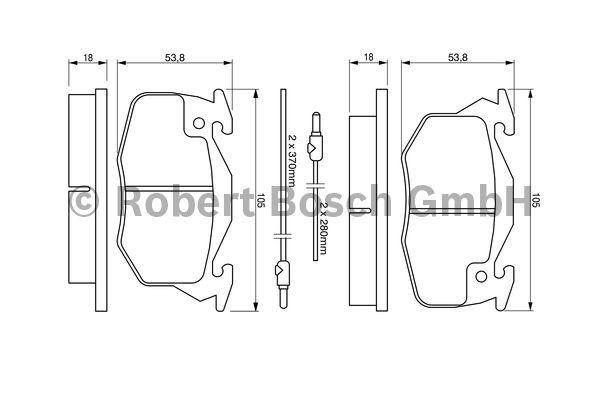 Kit de plaquettes de frein, frein à disque - BOSCH - 0 986 460 983