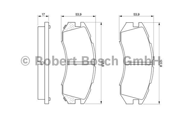 Kit de plaquettes de frein, frein à disque - BOSCH - 0 986 460 984