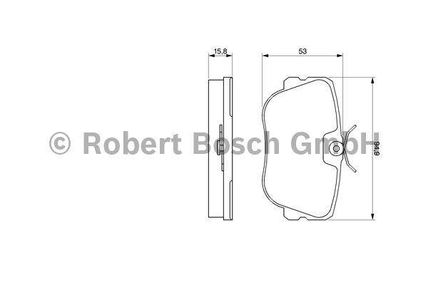 Kit de plaquettes de frein, frein à disque - BOSCH - 0 986 460 988