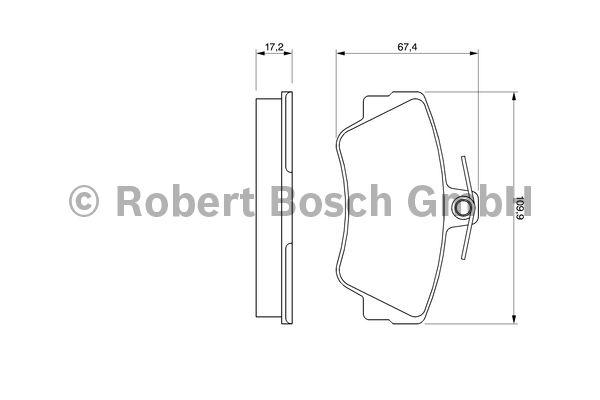 Kit de plaquettes de frein, frein à disque - BOSCH - 0 986 460 989