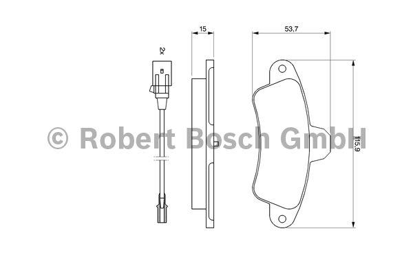Kit de plaquettes de frein, frein à disque - BOSCH - 0 986 460 991