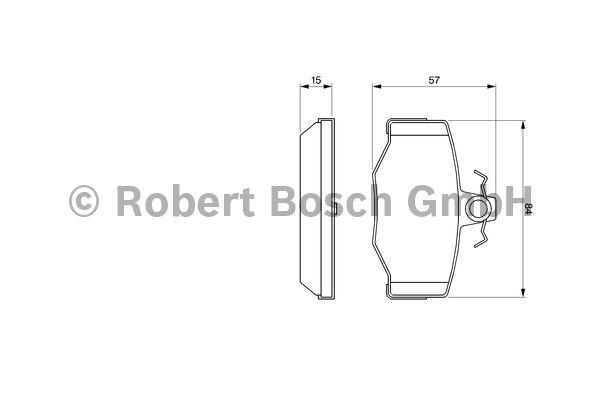 Kit de plaquettes de frein, frein à disque - BOSCH - 0 986 460 993