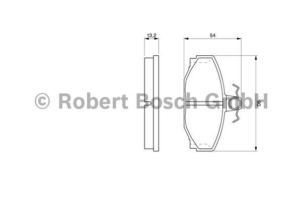 Kit de plaquettes de frein, frein à disque - BOSCH - 0 986 460 995