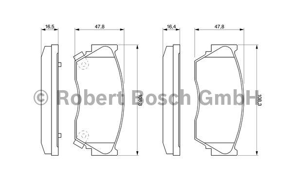 Kit de plaquettes de frein, frein à disque - BOSCH - 0 986 460 997
