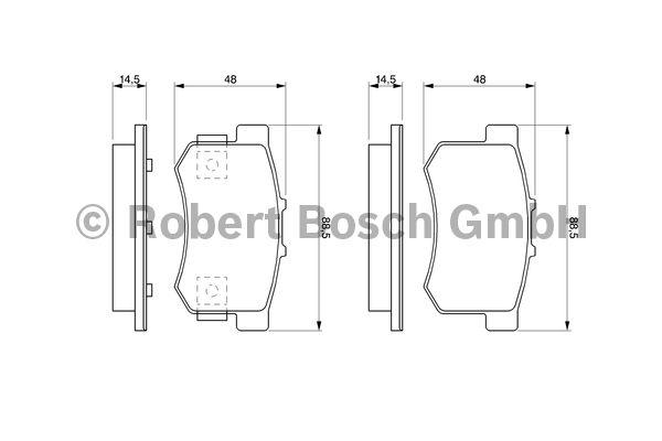 Kit de plaquettes de frein, frein à disque - BOSCH - 0 986 461 006