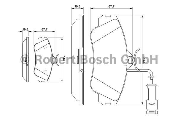 Kit de plaquettes de frein, frein à disque - BOSCH - 0 986 461 115