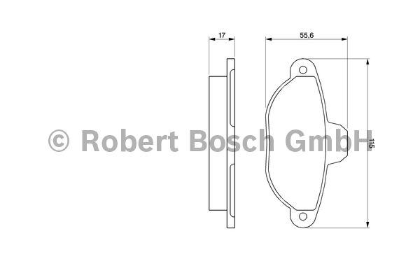 Kit de plaquettes de frein, frein à disque - BOSCH - 0 986 461 119