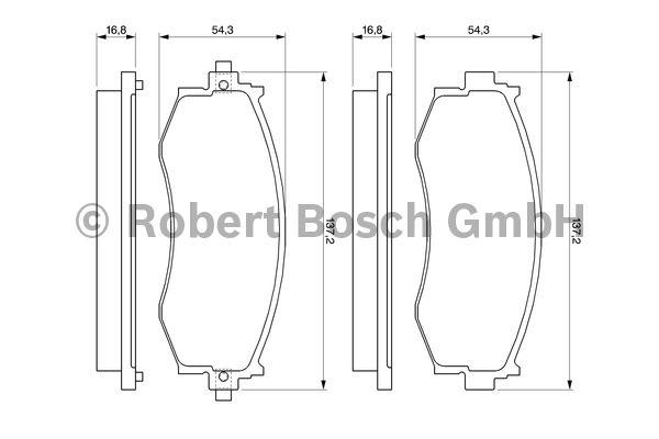 Kit de plaquettes de frein, frein à disque - BOSCH - 0 986 461 121
