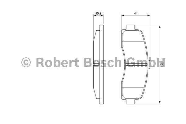 Kit de plaquettes de frein, frein à disque - BOSCH - 0 986 461 122