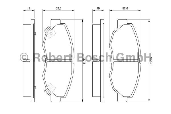 Kit de plaquettes de frein, frein à disque - BOSCH - 0 986 461 124