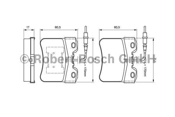 Kit de plaquettes de frein, frein à disque - BOSCH - 0 986 461 130