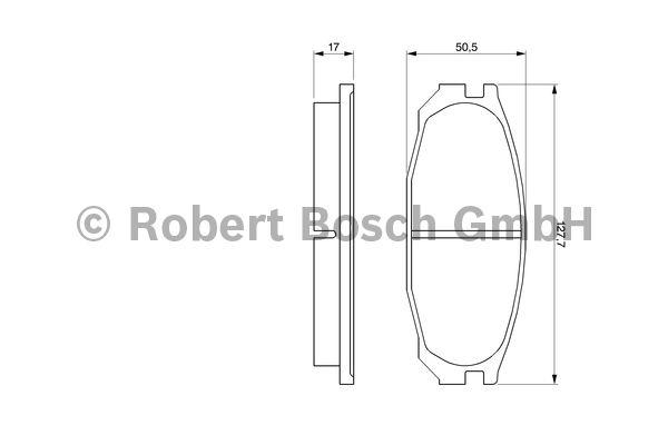 Kit de plaquettes de frein, frein à disque - BOSCH - 0 986 461 133