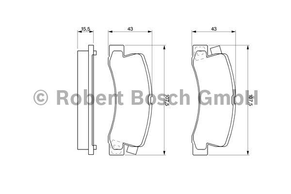 Kit de plaquettes de frein, frein à disque - BOSCH - 0 986 461 136