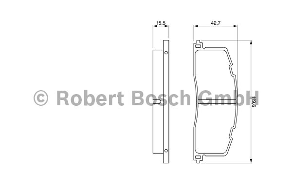 Kit de plaquettes de frein, frein à disque - BOSCH - 0 986 461 140