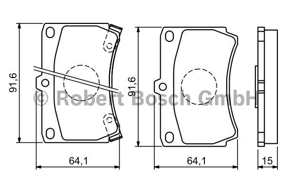 Kit de plaquettes de frein, frein à disque - BOSCH - 0 986 461 141