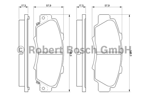 Kit de plaquettes de frein, frein à disque - BOSCH - 0 986 461 142