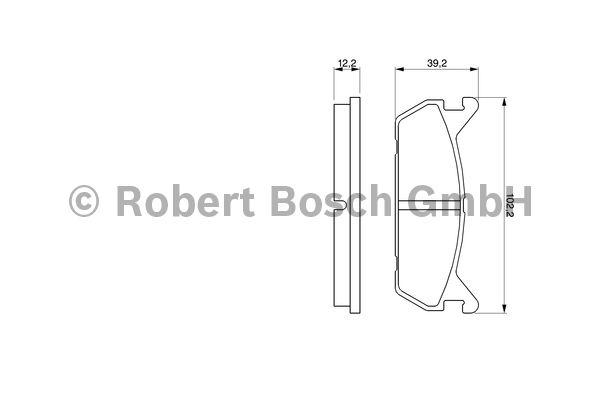 Kit de plaquettes de frein, frein à disque - BOSCH - 0 986 461 146