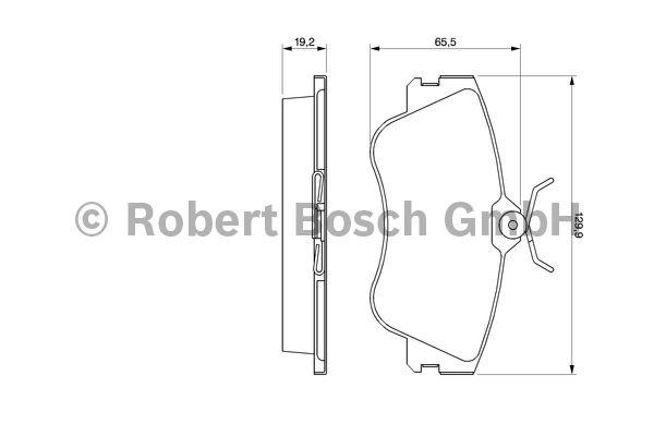 Kit de plaquettes de frein, frein à disque - BOSCH - 0 986 461 753