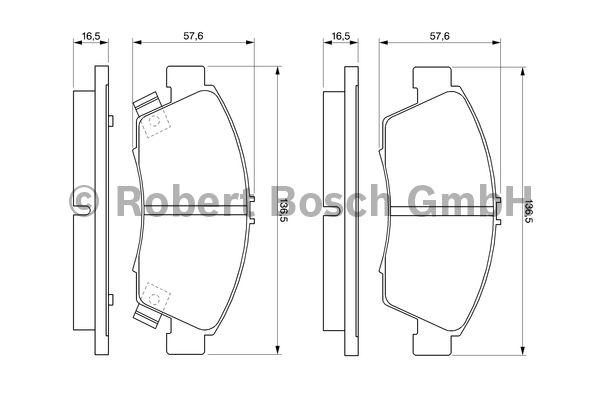 Kit de plaquettes de frein, frein à disque - BOSCH - 0 986 461 759