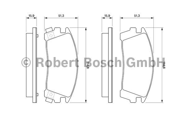 Kit de plaquettes de frein, frein à disque - BOSCH - 0 986 461 760