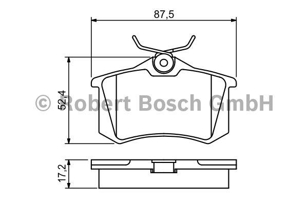 Kit de plaquettes de frein, frein à disque - BOSCH - 0 986 461 769