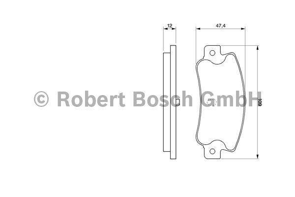 Kit de plaquettes de frein, frein à disque - BOSCH - 0 986 461 770