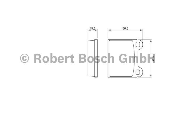Kit de plaquettes de frein, frein à disque - BOSCH - 0 986 462 282