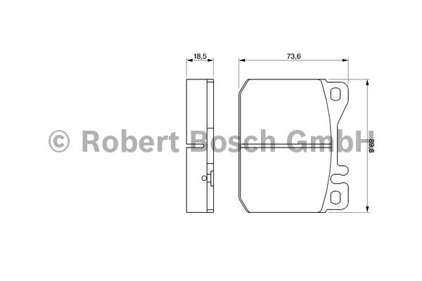 Kit de plaquettes de frein, frein à disque - BOSCH - 0 986 462 803
