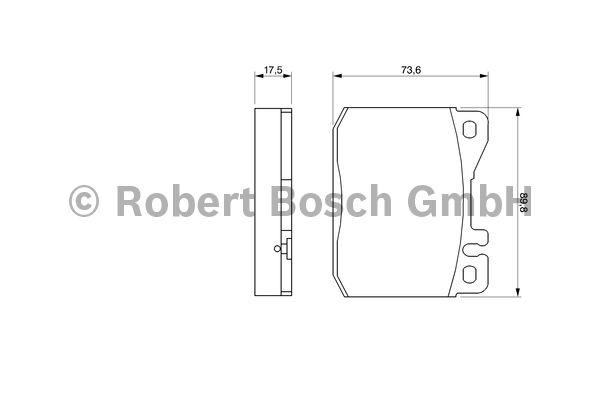 Kit de plaquettes de frein, frein à disque - BOSCH - 0 986 463 412