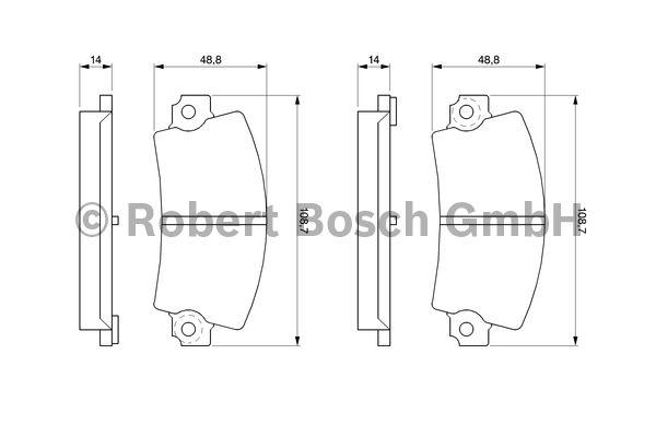 Kit de plaquettes de frein, frein à disque - BOSCH - 0 986 463 490