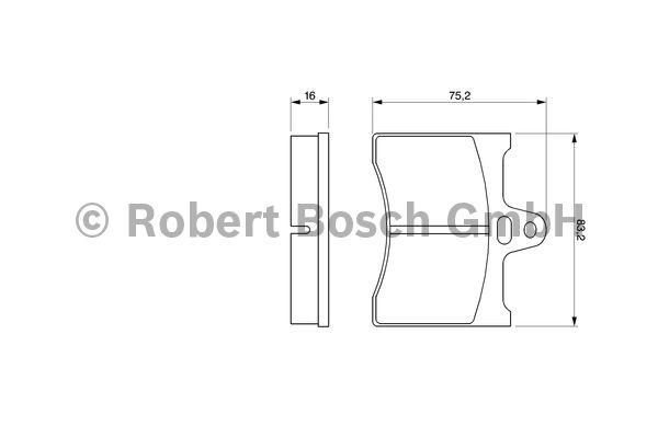 Kit de plaquettes de frein, frein à disque - BOSCH - 0 986 463 890