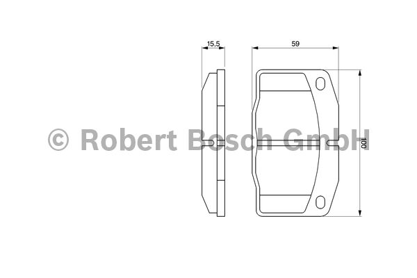 Kit de plaquettes de frein, frein à disque - BOSCH - 0 986 465 141