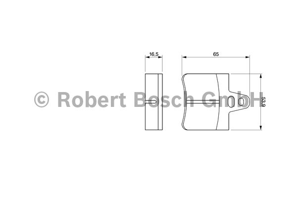 Kit de plaquettes de frein, frein à disque - BOSCH - 0 986 465 751