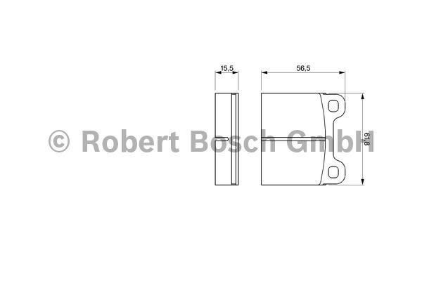 Kit de plaquettes de frein, frein à disque - BOSCH - 0 986 466 302