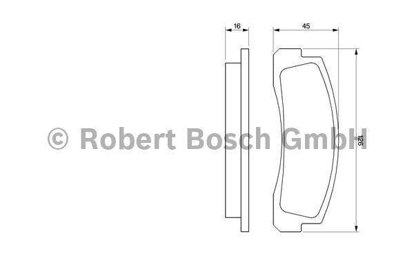 Kit de plaquettes de frein, frein à disque - BOSCH - 0 986 466 601