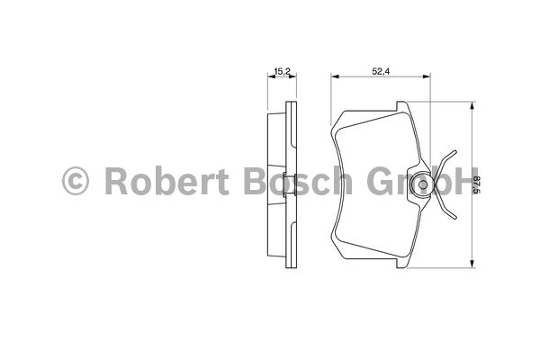 Kit de plaquettes de frein, frein à disque - BOSCH - 0 986 466 683