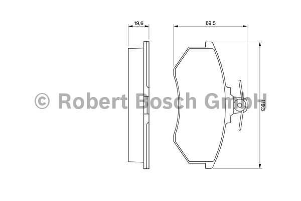 Kit de plaquettes de frein, frein à disque - BOSCH - 0 986 466 700