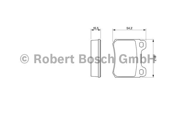 Kit de plaquettes de frein, frein à disque - BOSCH - 0 986 466 871