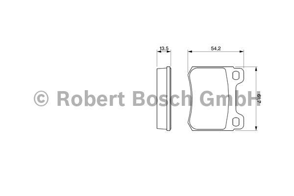 Kit de plaquettes de frein, frein à disque - BOSCH - 0 986 466 874