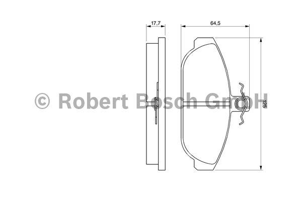 Kit de plaquettes de frein, frein à disque - BOSCH - 0 986 467 400