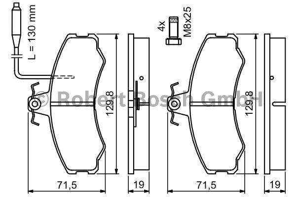 Kit de plaquettes de frein, frein à disque - BOSCH - 0 986 467 411